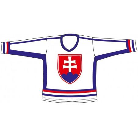 Hokej.dres SR 6 bílý L