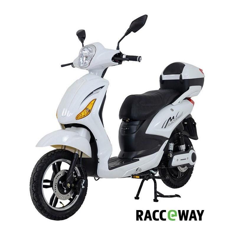 RACCEWAY E-MOPED, bílý-lesklý s baterií 12Ah